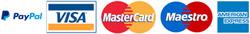 Accettiamo pagamento con carta di credito